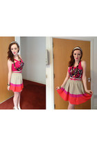 Primark skirt - pink leopard H&M top