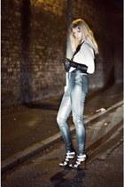 black Topshop pants - black vintage from Ebay gloves