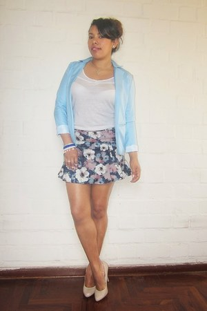blue sammydress skirt - sky blue sammydress blazer