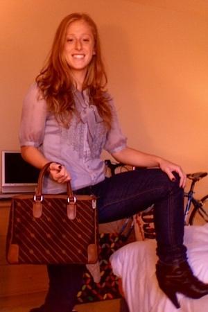 forever 21 blouse - forever 21 jeans