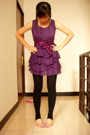 Glitters dress - tights - Charles & Keith shoes