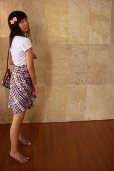 shirt - skirt - Charles & Keith shoes