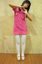 I&U dress - tights - Tracce shoes