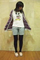 mcky shirt - - shorts - tights - Tracce shoes