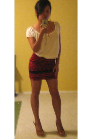 the gap shirt - American Apparel skirt - Jessica Simpson shoes