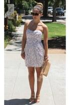Forever 21 dress - GiGi New York bag - vintage sunglasses - Sole Society wedges