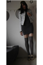 Zara jacket - H&M socks - American Apparel dress - Street shoes