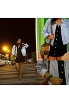 thrifted dress - thrifted liz claiborne jacket - thrifte bag