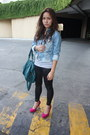 Blue-zara-jacket-hot-pink-sm-department-store-shoes-white-zara-shirt-black
