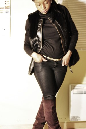 Zara boots - Mexx top - Forever 21 pants