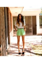 lime green cotton Forever 21 shorts