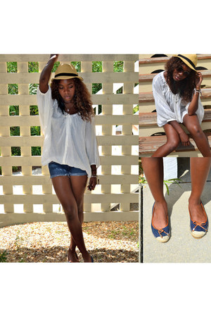 hat - LAMB shirt - Guess shorts - Michael Michael Kors flats