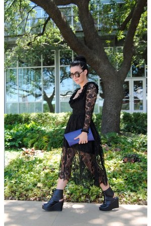 vintage lace Oscar de la Renta dress - Deena & Ozzy wedges