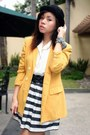 Mustard-second-shop-blazer-white-archive-clothing-blouse-black-forever-21-sk