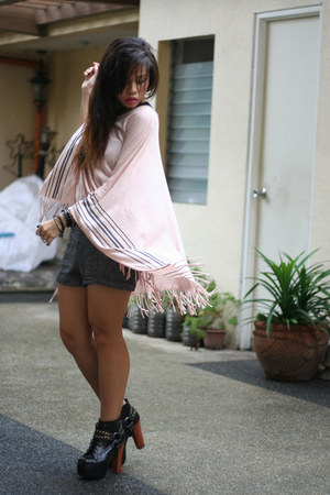 light pink from hong kong cape - black Jeffrey Campbell boots