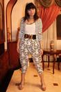 White-celine-blazer-beige-zara-blouse-white-pants