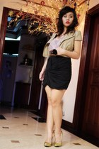 jacket - Forever 21 blouse - skirt - heels