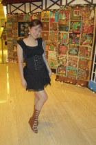 black random brand top - black random brand blouse - black random brand skirt -