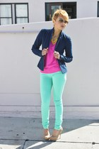aquamarine Funky Elegance jeans - bubble gum H&M sweater