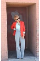 light blue Joe Bush pants - carrot orange Forever21 blazer