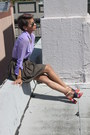Army-green-bb-dakota-skirt-light-purple-funky-elegance-shirt