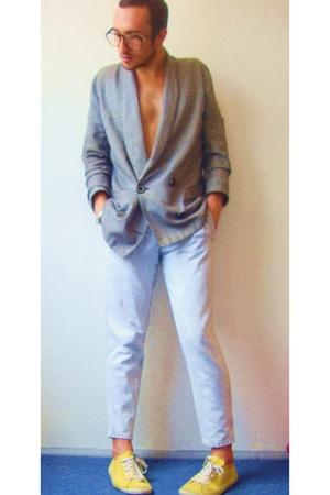 vintage blazer - vintage jeans - Springfield shoes