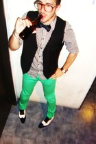 H&M shirt - cavalier tie - LOB jacket - H&M jeans - shoes