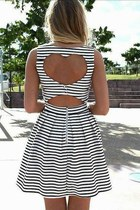 black dress - off white dress