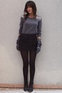 Silver-h-m-sweater-black-topshop-skirt-gray-agnelle-gloves