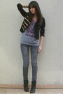 Gray-diabless-jeans-gray-marc-by-marc-jacobs-t-shirt-black-h-m-jacket-blac
