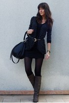 BDG sweater - Stradivarius skirt - vintage belt - H&M accessories - Steve Madden