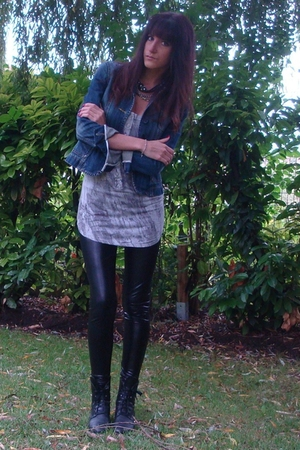 Fox jacket - Bershka top - Zara leggings - vintage shoes
