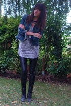 Fox jacket - Bershka top - Zara leggings - vintage shoes