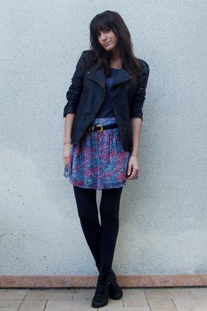 Giles DeaconNew Look sweater - Maje jacket - Forever 21 skirt - vintage belt - v