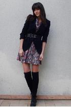 vintage dress - Zara blazer - H&M belt - vintage shoes