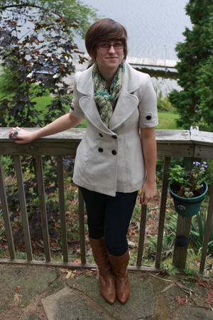 Tulle jacket - Target scarf - delias jeans - Aldo boots - pier 1 accessories