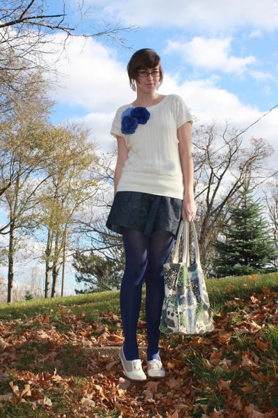 f21 shirt - f21 shorts - tights - accessories - shoes - kohls purse