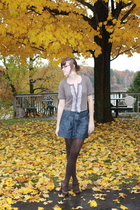 Charlotte Rouse sweater - f21 shorts - simply vera wang tights - Hush Puppies sh