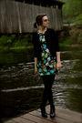 Black-ny-co-cardigan-blue-f21-dress-black-kohls-tights-black-apt-9-boots