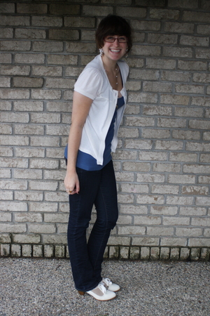 kohls sweater - f21 shirt - delias jeans - UO shoes - f21 earrings - accessories