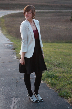 Silence &amp; Noise blazer - kohls shirt - skirt - simply vera wang shoes - Icing ne