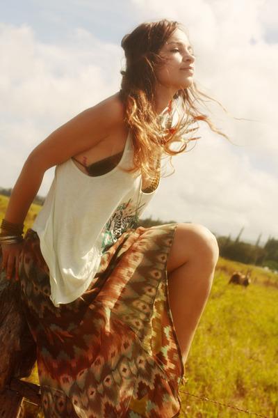 hi low Wild  Heart skirt