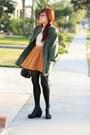 Mustard-forever-21-skirt