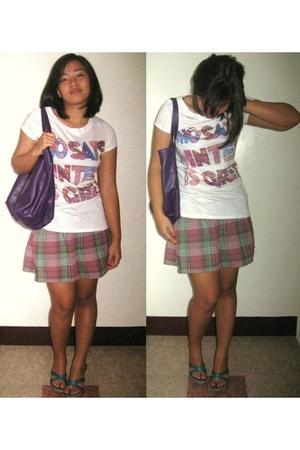 pink Zara shirt - purple Roxy skirt - blue Matthews shoes - purple