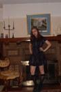 Cotton-kimchi-blue-dress-merona-socks-woven-belt-bamboo-heels