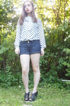 gold buttons Charlotte Russe shorts