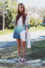 Light-blue-dip-dyed-dress