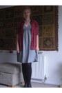 Blue-home-made-dress-ruby-red-debenhams-shirt-black-primark-flats