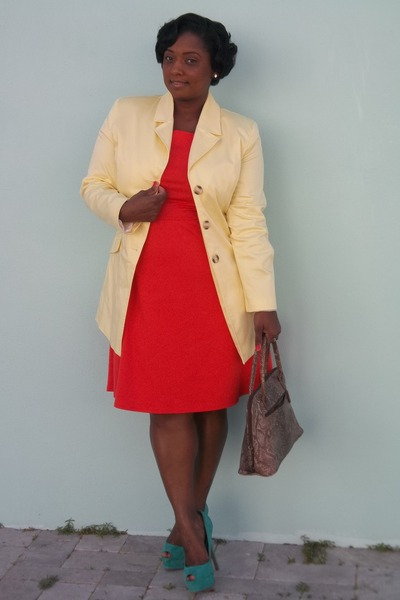 Old Navy dress - thrifted coat
