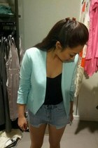 H&M blazer - unknown shorts - Urban Outfitters top